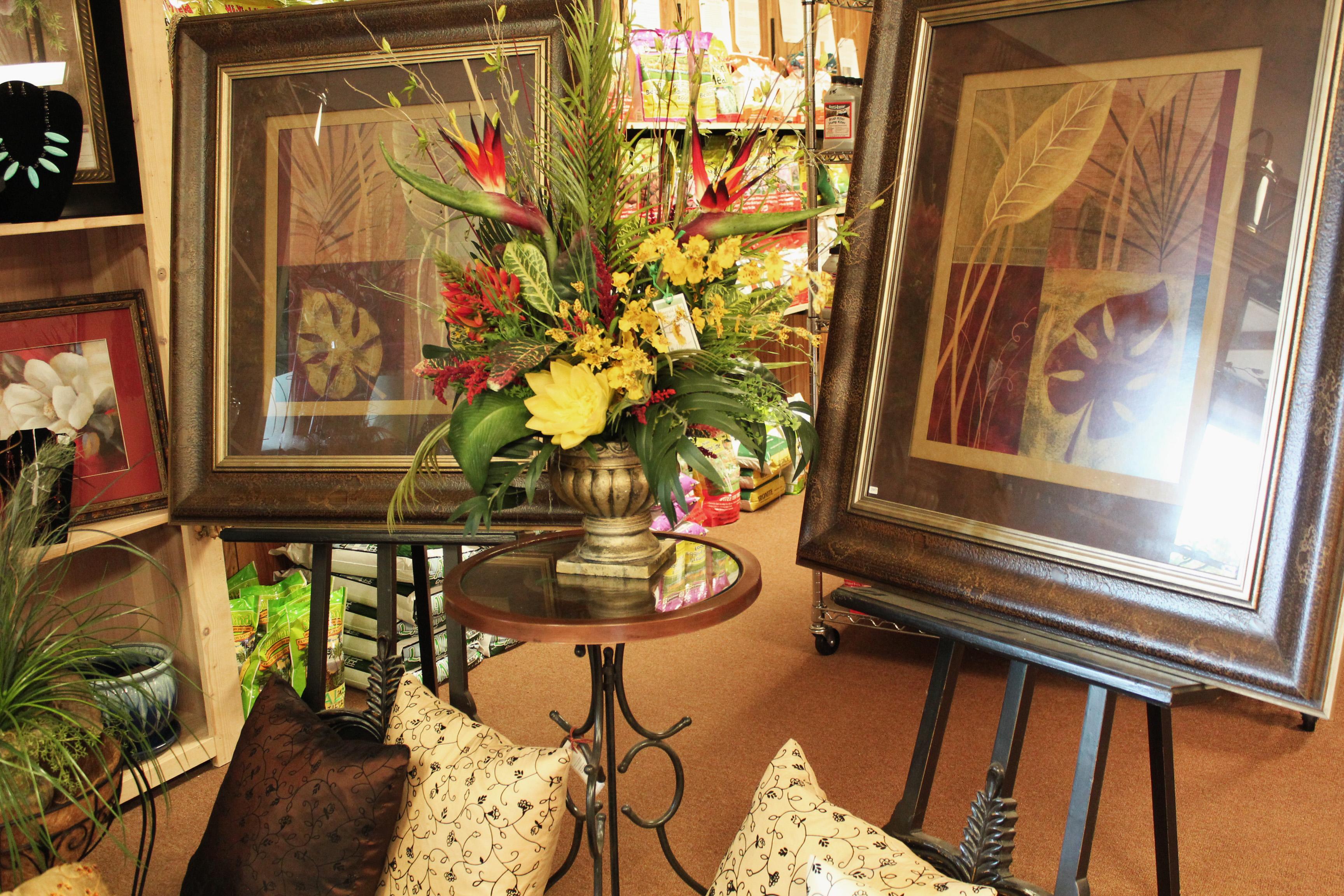 custom floral artwork at emerald coast nursery niceville